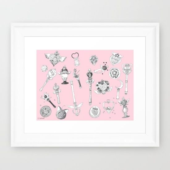 Buy Sailor Moon Flash - Pink Framed Art Print by Rebecca Richards. Worldwide shipping available at Society6.com. Just one of millions of high quality products available.