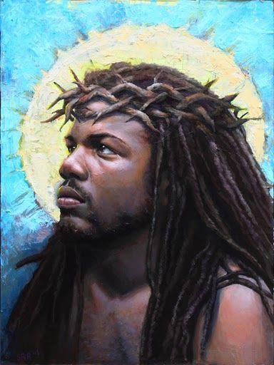 "Black Jesus | ... RayfieldGold Medal Winner""Black Jesus""oil on panel18 x 24 in"