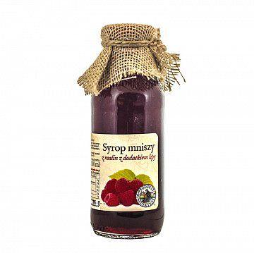 Syrop z malin i lipy - Produkty Benedyktyńskie    Syrop z malin i lipy doskonale będzie komponował się w napojach, deserach, czy też koktajach.    Owoce malin są bogate w kwasy organiczne, pektyny, witaminy oraz subst...
