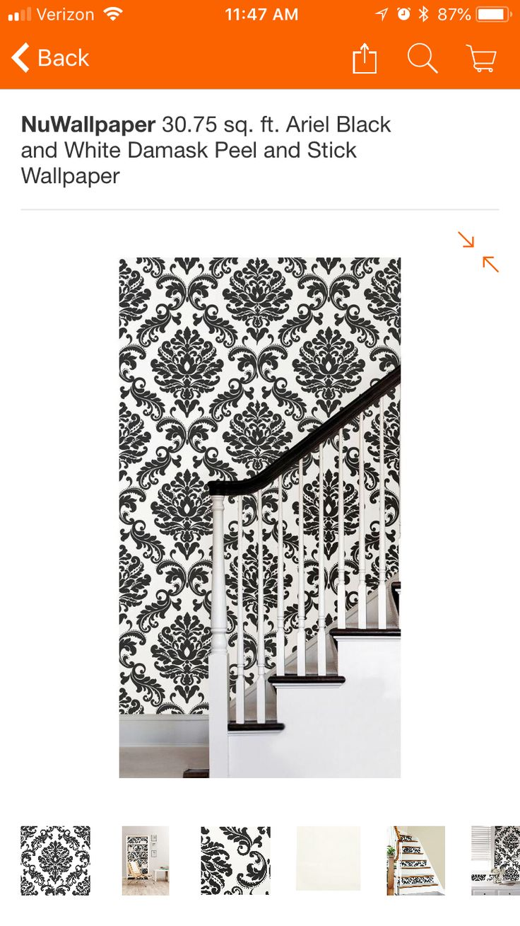 Home Depot | Peel and stick wallpaper, White damask