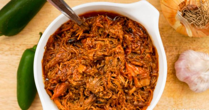 This Low Carb Spicy Pulled Pork is made in the slow cooker and has the perfect blend of spicy and sweet flavors for under 250 calories per serving.With lots of football games on the horizon, I...