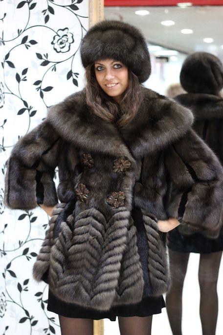 Sable fur coat & hat