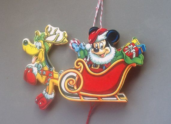 Vintage Disney Christmas Decoration Mickey Mouse And Pluto