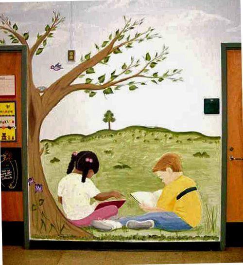 murals in schools | Art: Elementary School Murals, Raleigh NC by Artist Karen Lynn Evans