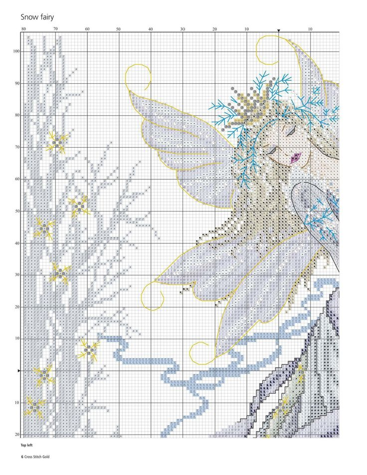 Cold As Ice Snow Fairy (Joan Elliott) From Cross Stitch Gold N°124 2015 3 of 6
