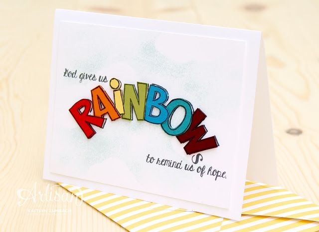 I love the sentiments in the Over the Rainbow Set for sympathy cards. -Kaitlyn Zumbach