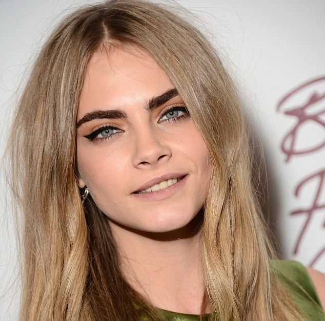 Untamed: Cara said she doesn't style her famous bushy eyebrows