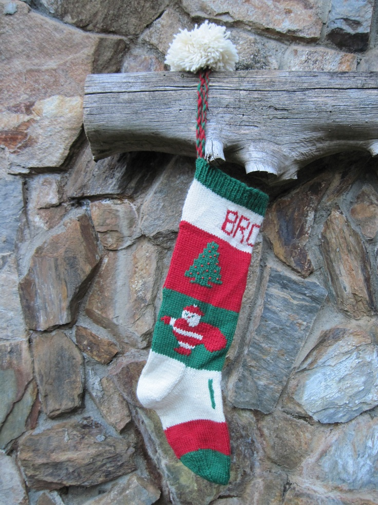 Knitted Christmas Stocking Pattern