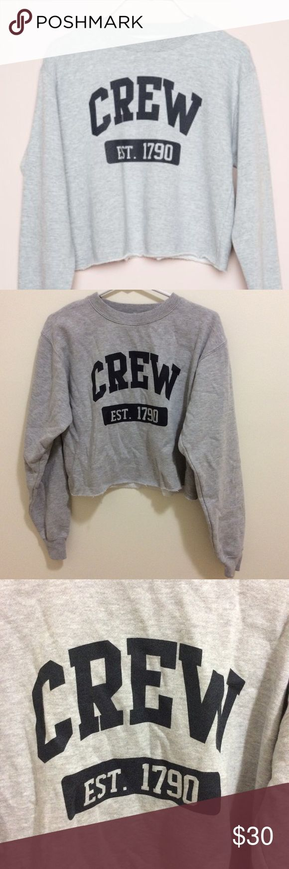 Brandy Melville crew graphic sweater Cropped grey crew