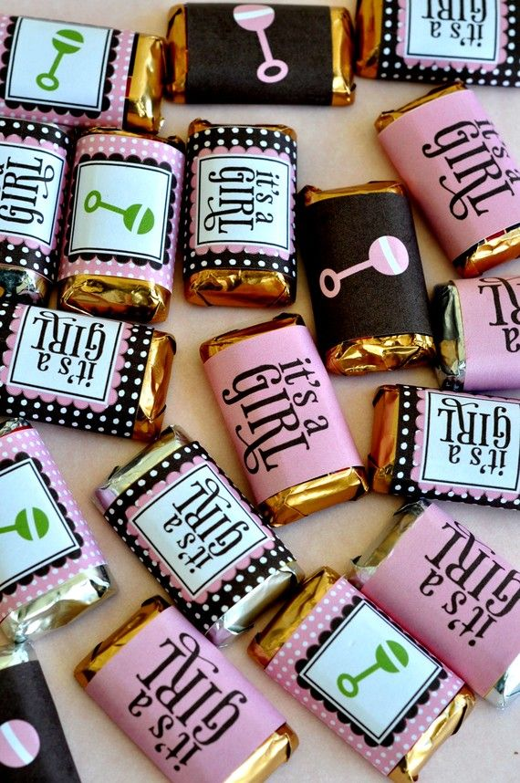 So Girly Baby Shower PRINTABLE Party Candy Wrappers by lovetheday, $8.00