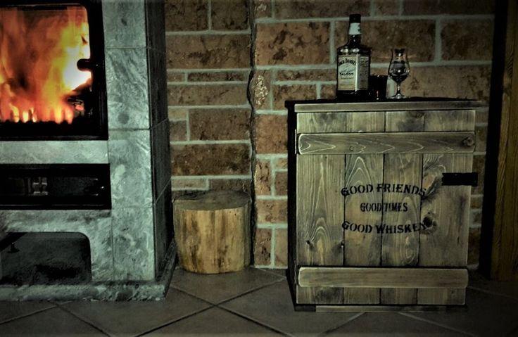 Bar Whiskey Frachtkiste Single Malt shabby vintage Schrank Whisky Landhaus Retro
