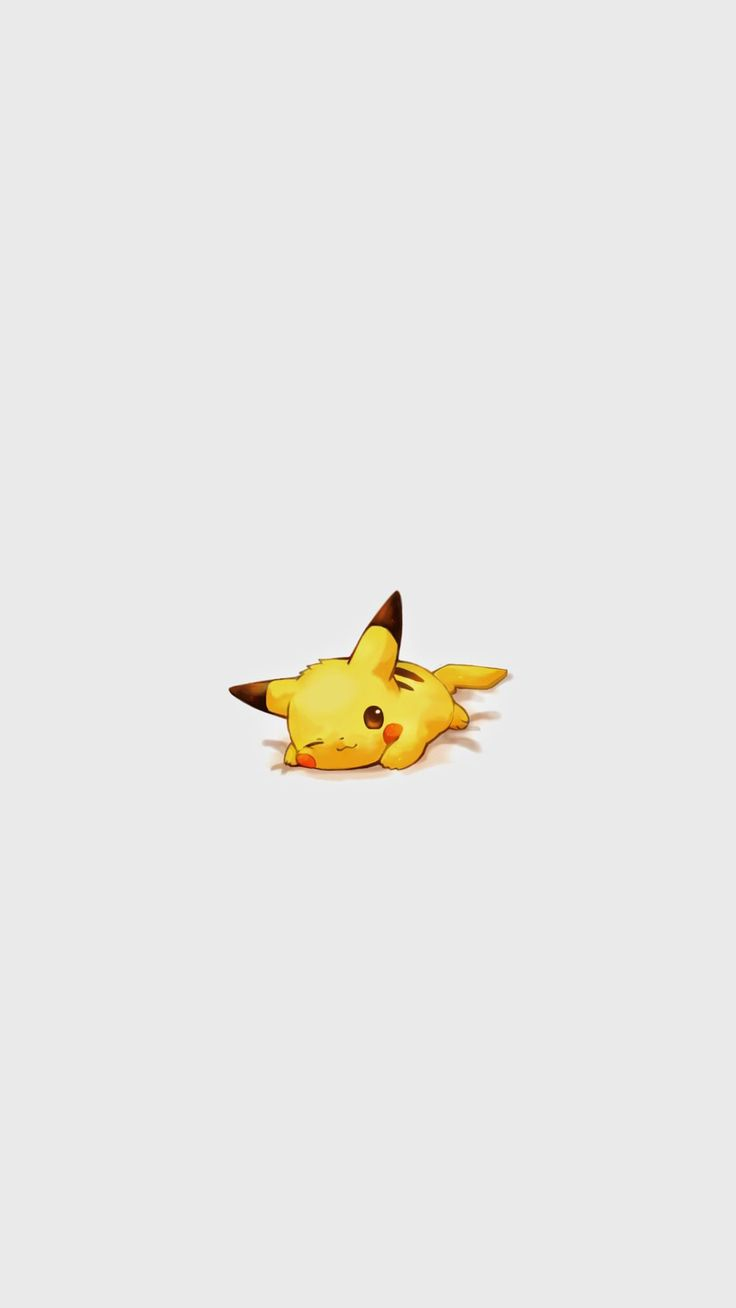 Cute Pikachu Pokemon Character #iPhone #6 #plus #wallpaper