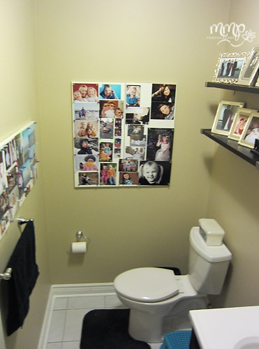 our powder room...Ikea magnet boards