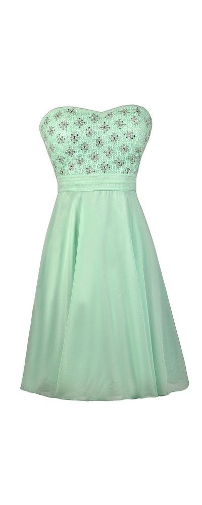 Lily Boutique Twinkle Twinkle Embellished Dress in Mint, $72 Mint Embellished Dress, Beaded Mint Party Dress, Mint Homecoming Dress www.lilyboutique.com