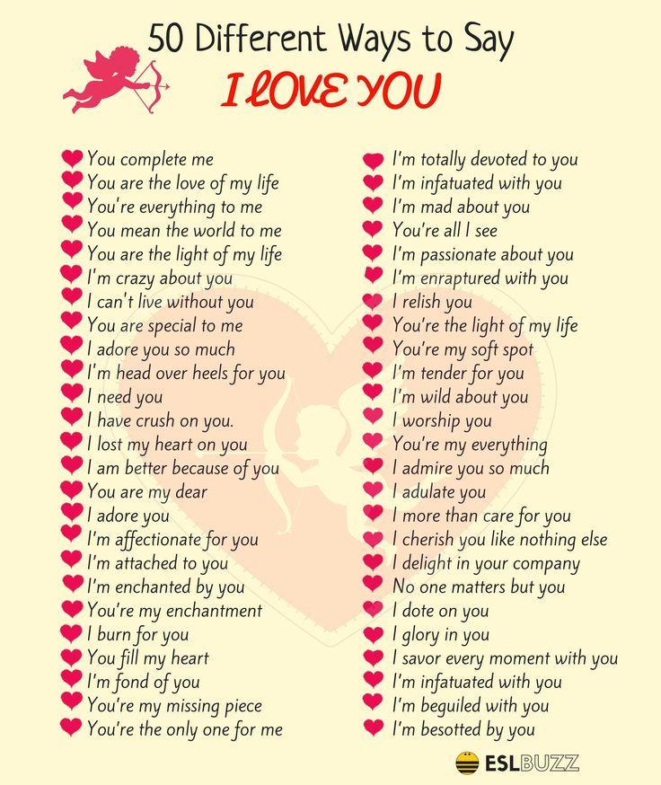 100  Beautifully Romantic Ways To Say I Love You