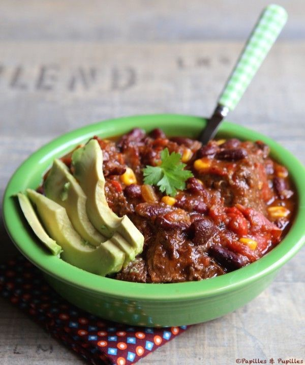 Chili con carne de joue de boeuf