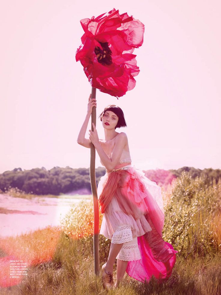 Poppy - editorial from Karen Magazine: Karen O'Neil, Inspiration, Editorial, Color, Art, Poppies, Pink, Fashion Photography