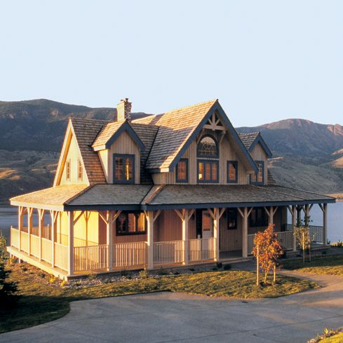 179 best one story ranch farmhouses with wrap around for Ranch style timber frame homes