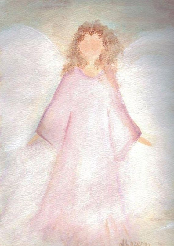 Angel notecards original angel painting cards custom acrylic print, acrylic painting print