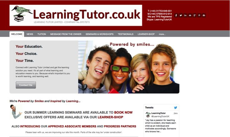 Our new look: www.learningtutor.co.uk