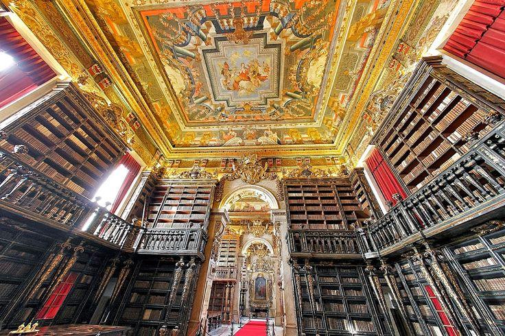Biblioteca Joanina É uma das mais belas bibliotecas do mundo