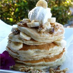 Banana Pancakes - awesome recipe. Refrigerated leftovers and they were still very good the next day.