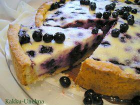 Kakku-Unelma: Sitruunainen mustikkarahkapiirakka