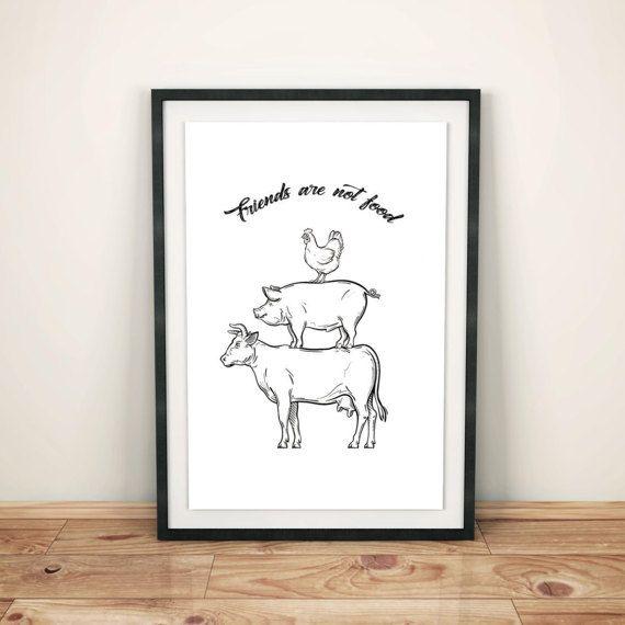 Printable Wall Art Prints, Instant Download Printable Art,Digital Print,Digital Download,Vegan,Animal,Friendly,Lifestyle,Healthy,Plants,Farm