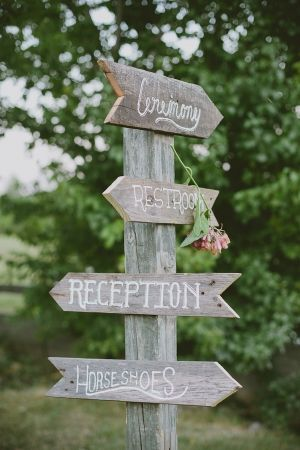 Outdoor wedding sign