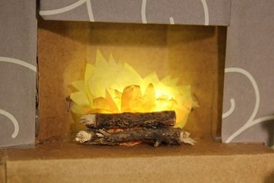 how to make a paper fireplace