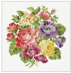 cross stitch patterns free printable flowers | Free Cross Stitch pattern and counted cross stitch patterns to