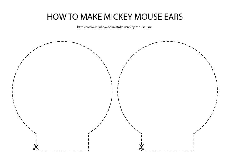Mickey Mouse Ears Template - wikiHow