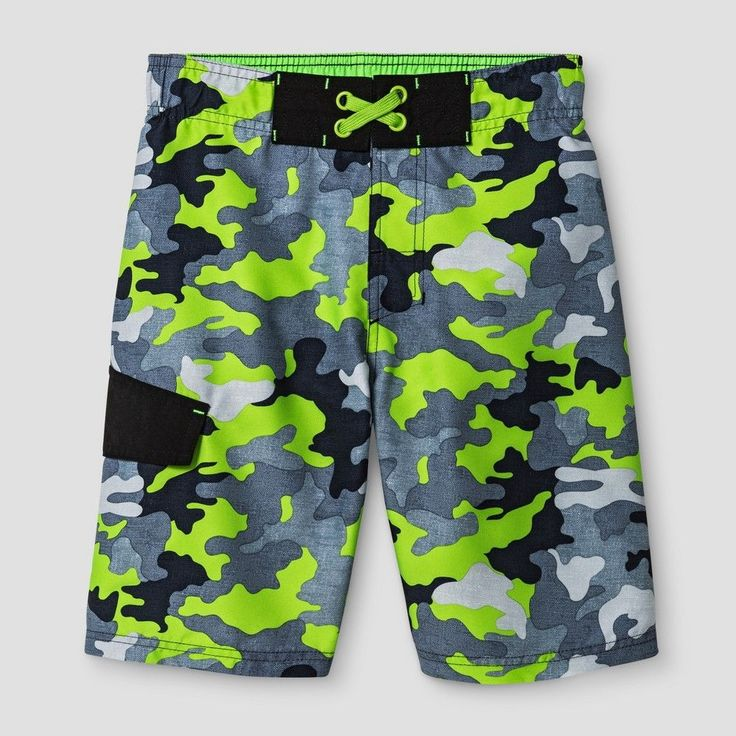 Boys' Swim Trunks Cat & Jack Green - XS, Boy's