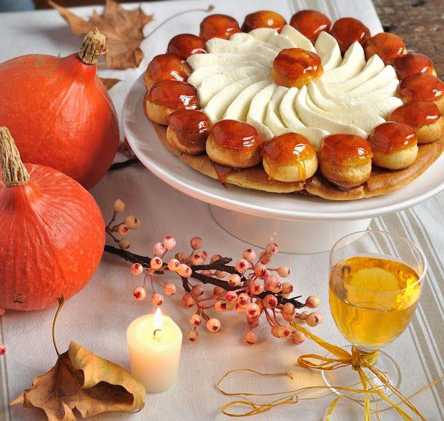 Pumpkin Saint-Honoré, yum!