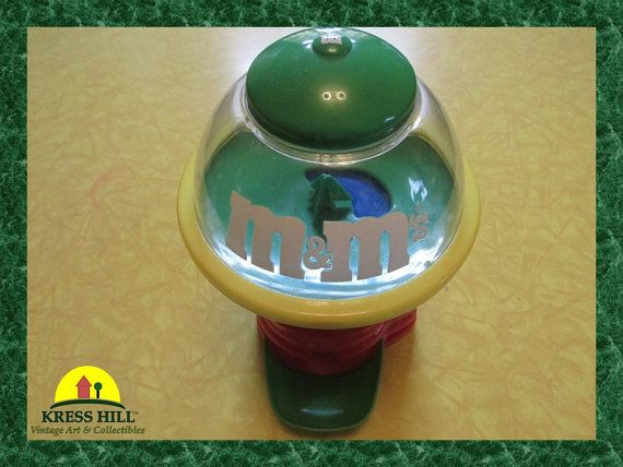 Retro M and M Large Spinning Candy Dispenser by KressHillVintage