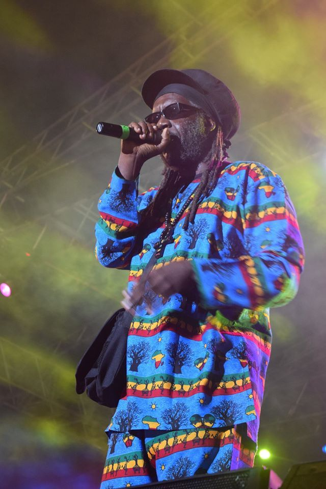 Macka B performing on Night 2 of Rebel Salute 2016. — at Grizzly's Plantation Cove, St. Ann, Jamaica .