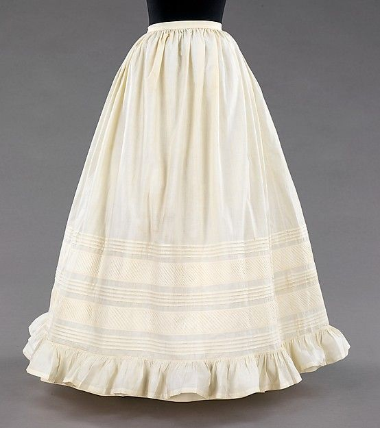 Petticoat Date: 1850–60 Culture: American Medium: cotton