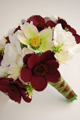 Tuberose wedding bouquet | Chocolate Cosmos, Ivory Prince Hellebores, Gardenias and Tuberose. This has to smell heavenly!
