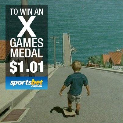 X games medal - We 'like' his chances. Do you? - Sportsbet.com.au