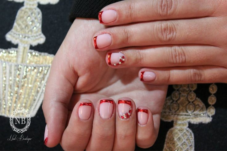 #red#french#manicure#nailboutique