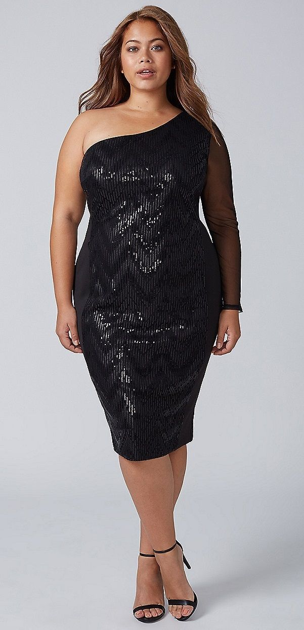 debc0ce18b4 Plus Size Sequin Dress - Plus Size Cocktail Party Dress  plussize ...