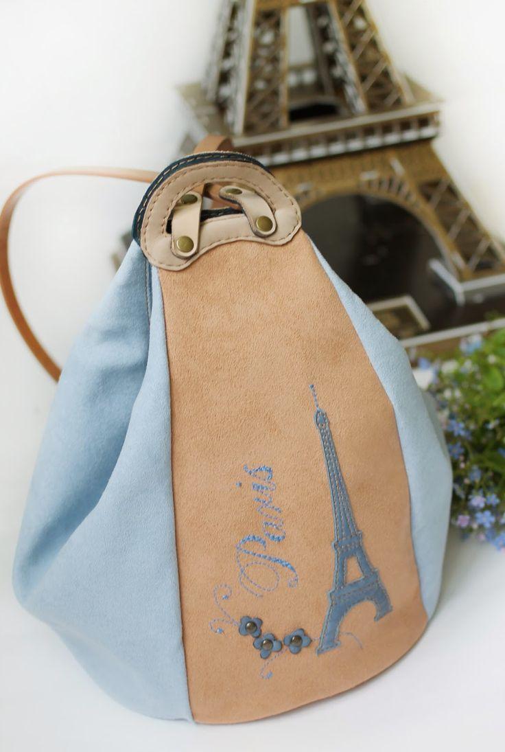 "Made by Arina Rasputina: Сумка-рюкзак ""Paris"""