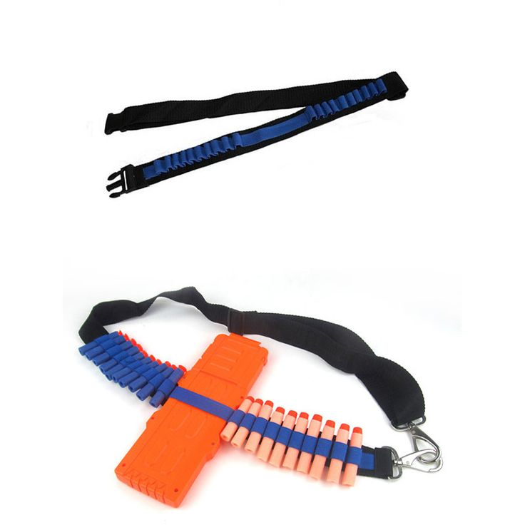 Bandolier Toy Gun Soft Bullets Belt Shoulder Strap Clip Darts Ammo Storage For Nerf N-strike Blasters Cartridge Holder