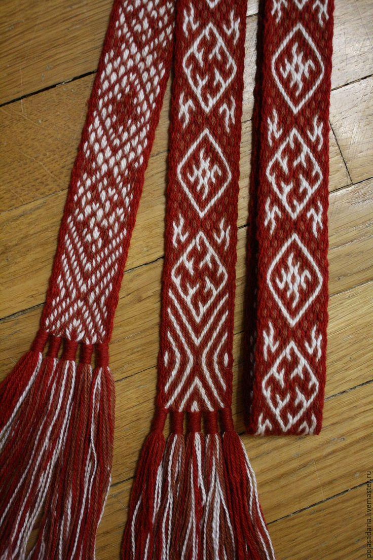Купить Пояс на дощечках - Одолень трава - пояс на дощечках, традиционное ткачество, тесьма, ручное ткачество