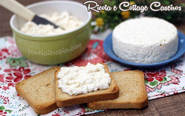 PANELATERAPIA - Blog de Culinária, Gastronomia e Receitas: Como Fazer Ricota e Cottage