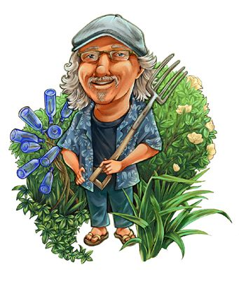 Welcome to Felder Rushing's Website ... Slow Gardening, Bottle Trees, Garden Hearts, Fun And Whimsy.