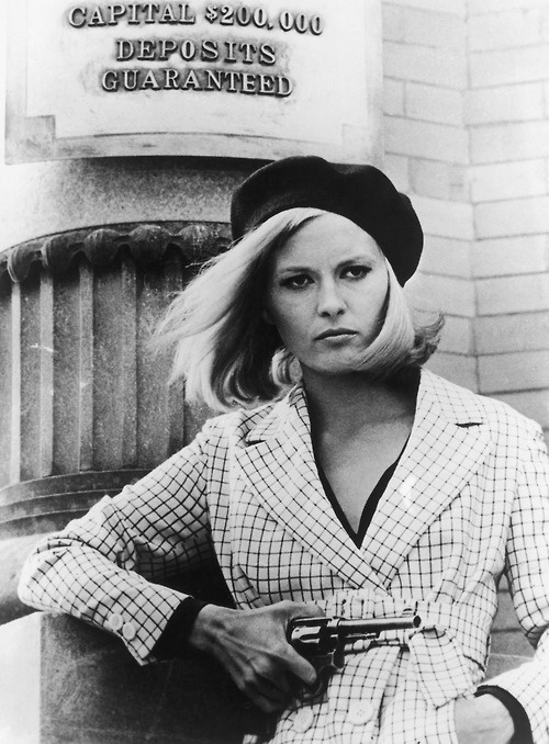 Faye Dunaway as Bonnie Parker - 'Bonnie and Clyde', 1967.