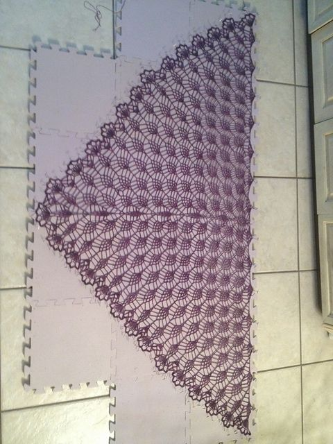 Ravelry: Lilaberry Crochet Lace Shawl pattern by Kristin Omdahl