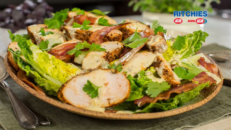 Want a low carb, high protein salad with flavour? Try this tender Cajun chicken Caesar salad with spiced chicken breast, crisp cos, bacon and zingy sauce.