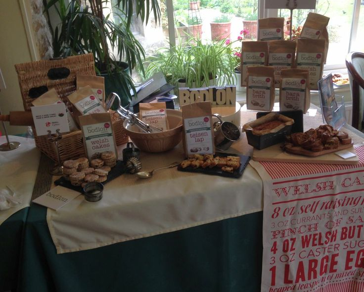A display of Bodlon Bakes we showcased at a meet the buyer event